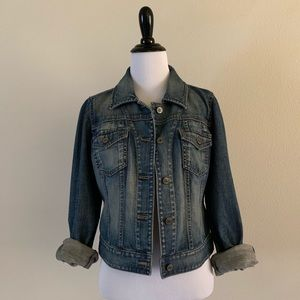 LOFT Classic Jean Denim Jacket Sz 6